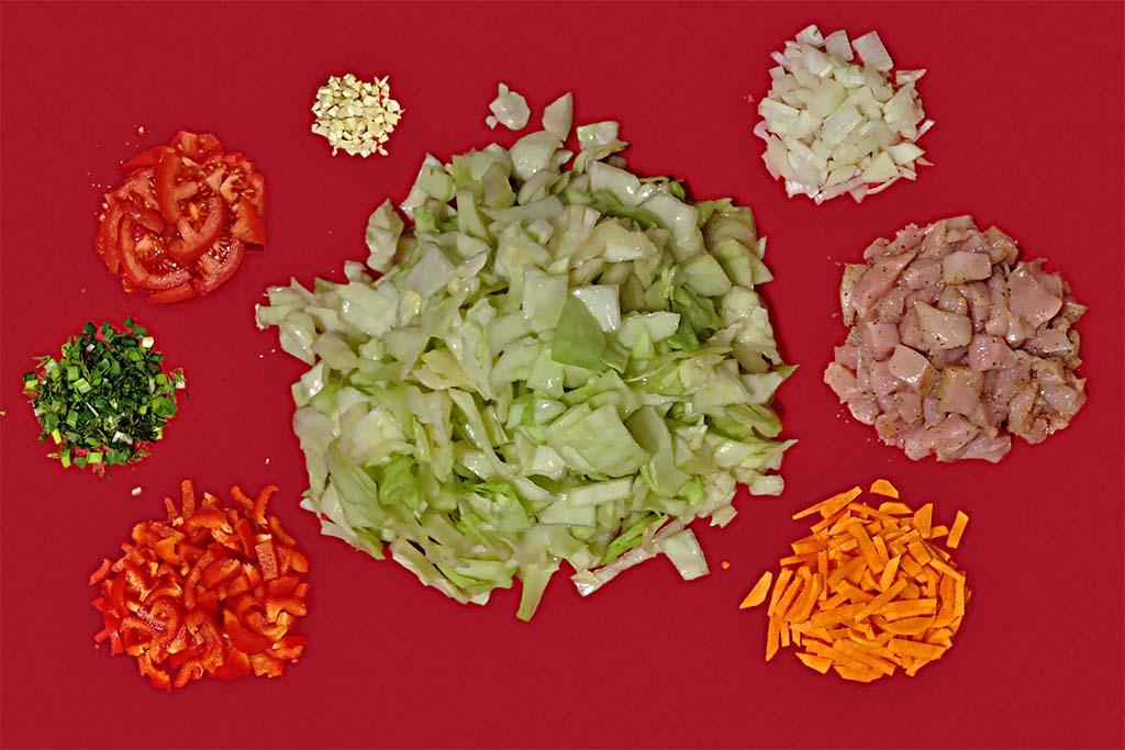 Рецепт тушеной капусты с курицей в мультиварке Рецепты  ужин правильное питание мультиварка курица диета
