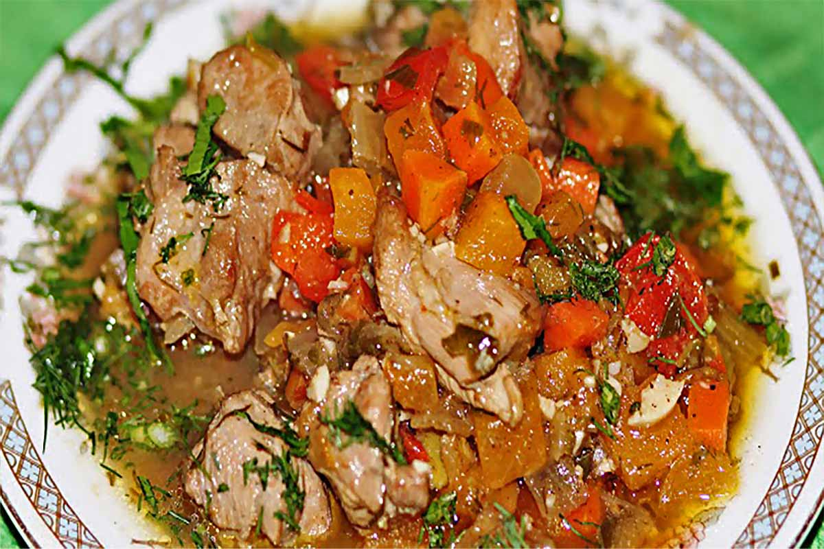 Индейка с овощами в мультиварке ужин правильное питание мультиварка курица диета