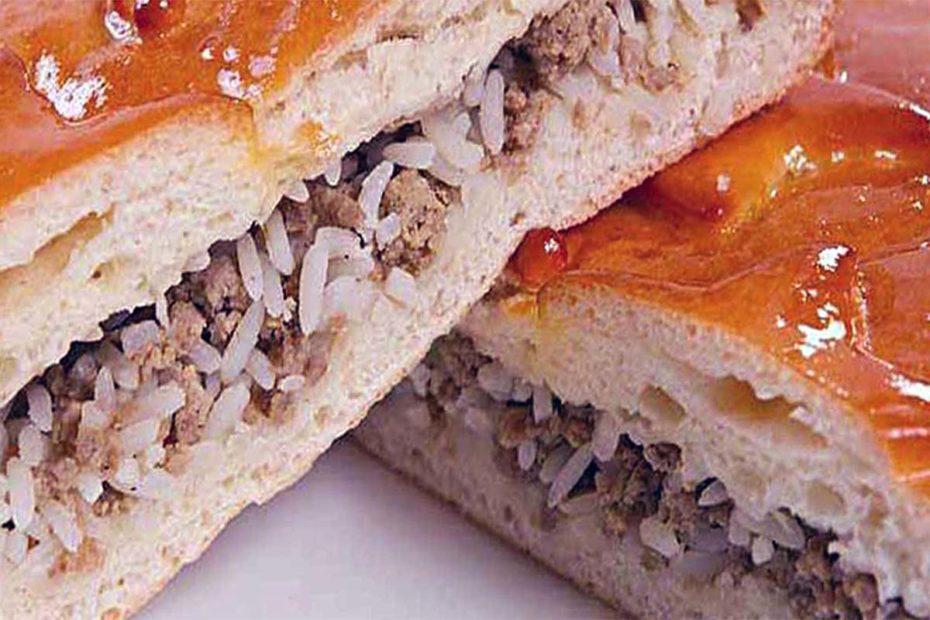 Заливной пирог на кефире с мясом из старой тетрадки рецептов ужин десерты выпечка вкусняшки