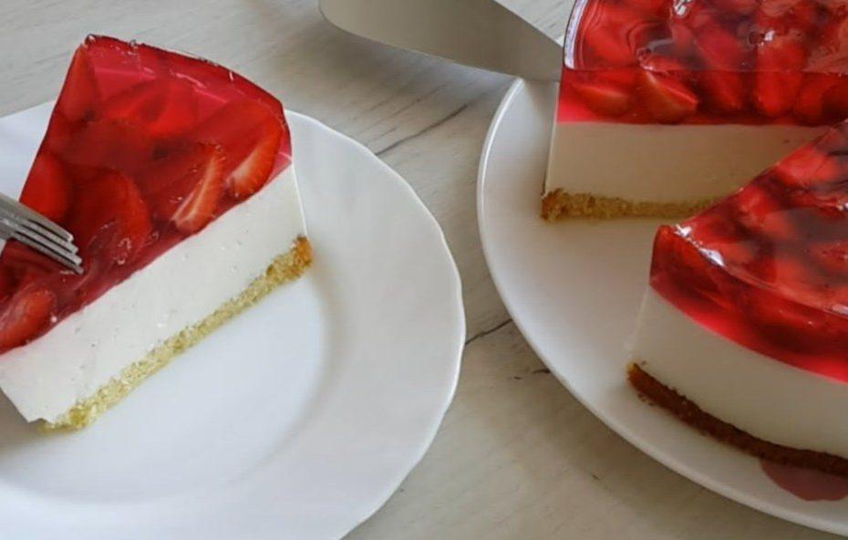 Творожный чизкейк с клубникой – невероятно вкусный рецепт полезные советы пирог десерты выпечка вкусняшки