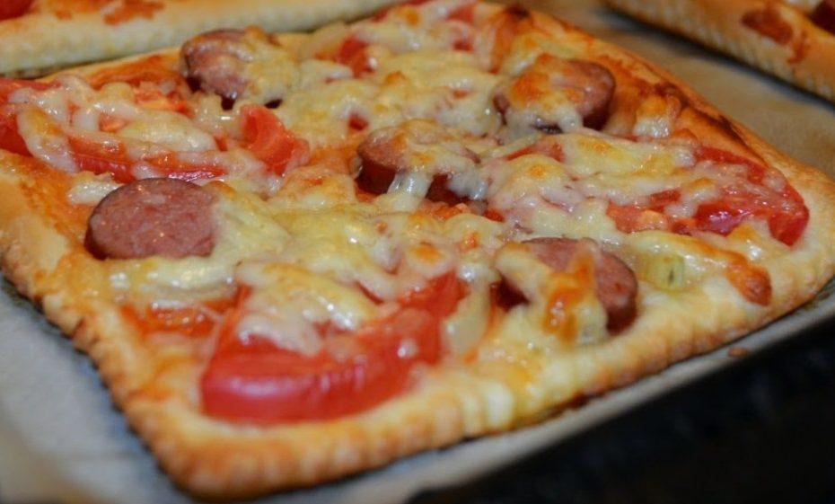 Домашняя пицца на слоеном тесте – интересный рецепт полезные советы пицца выпечка вкусняшки