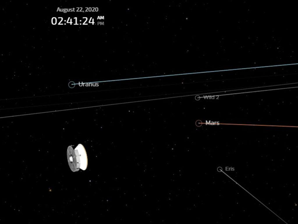 NASA's Eyes позволяет отслеживать миссию Марс-2020 в реальном времени Минутка науки
