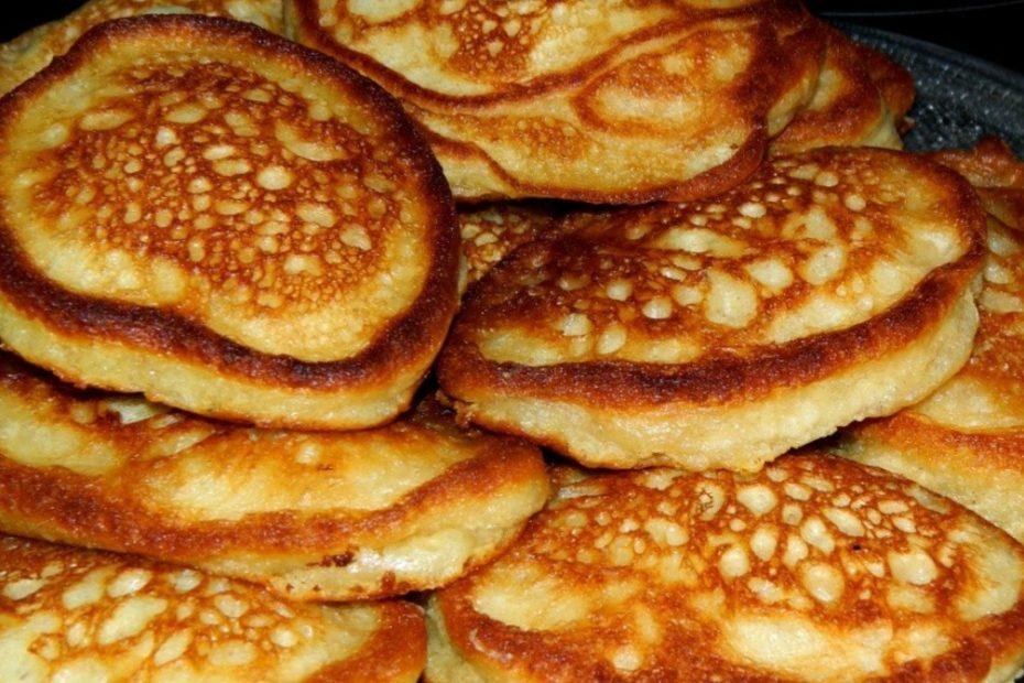 Как приготовить пышные оладьи – бабушкин рецепт Рецепты  оладьи завтрак выпечка вкусняшки блины