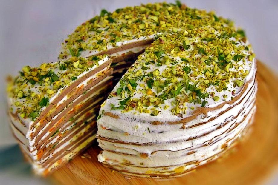 Очень вкусный печеночный торт – простой рецепт Рецепты  торты праздники мясо вкусняшки