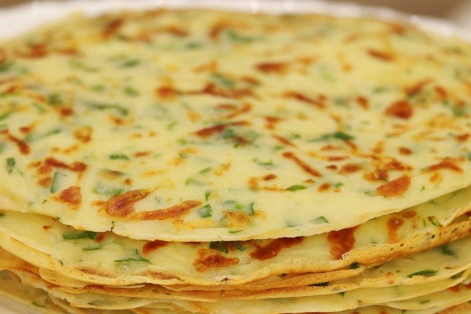 Как приготовить сырные блинчики с зеленью – подробный рецепт Рецепты  полезные советы оладьи выпечка вкусняшки блины