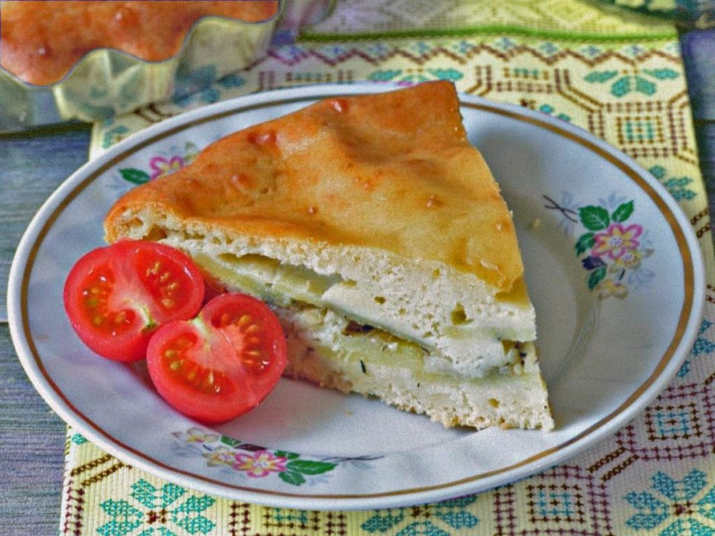 Нежный пирог с картошкой в духовке из дрожжевого теста Рецепты  ужин рецепт пирога полезные советы пирог выпечка вкусняшки