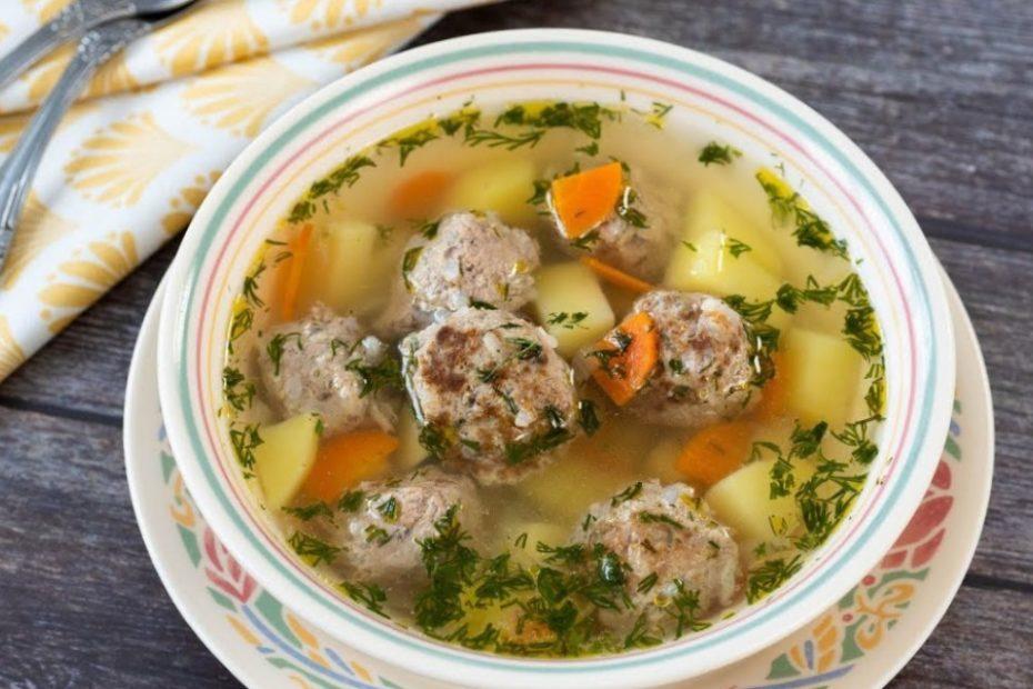 Очень вкусный суп с фрикадельками из фарша – домашний рецепт супы правильное питание пп-пецепты пп полезные советы