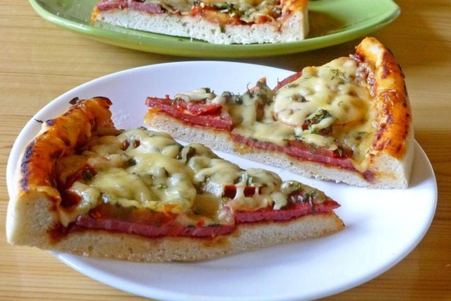 Пицца с колбасой и сыром – повседневный рецепт домашней выпечки полезные советы выпечка вкусняшки