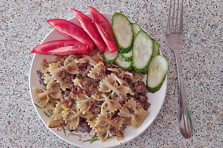 Макароны по-флотски на сковороде – простой рецепт вкусного блюда Рецепты  ужин пп-рецепты пп полезные советы