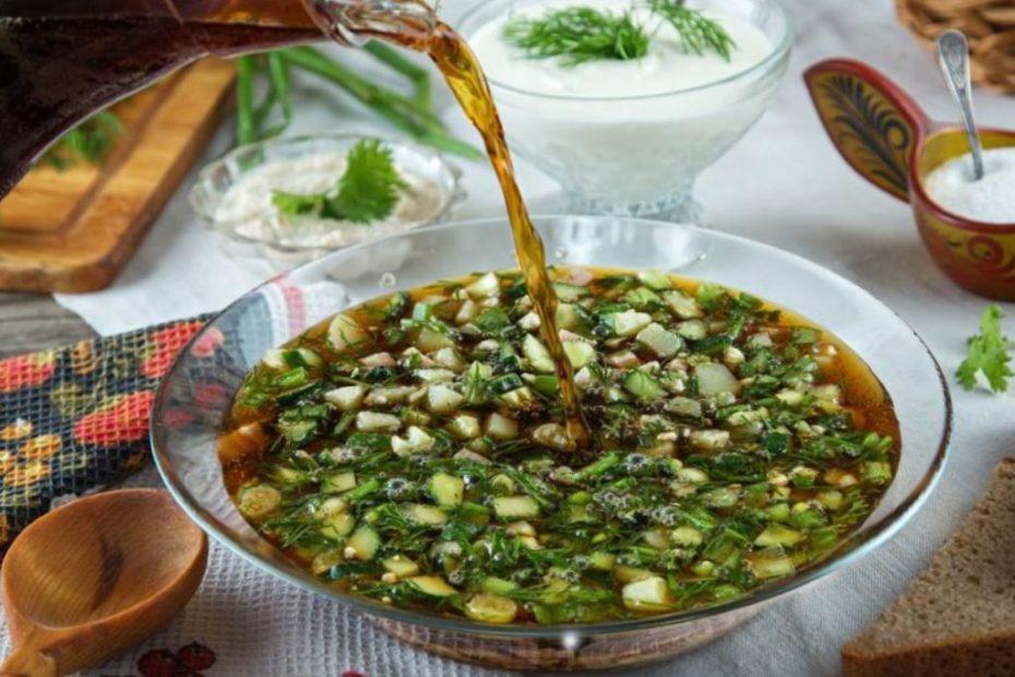Вкусная легкая окрошка на квасе – классический рецепт супы правильное питание пп-пецепты пп полезные советы обед