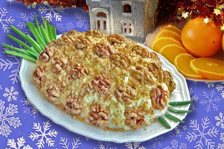 Новогодний салат «Вкуснятина» с ананасами и курицей – праздничный рецепт Рецепты  салаты праздники полезные советы курица