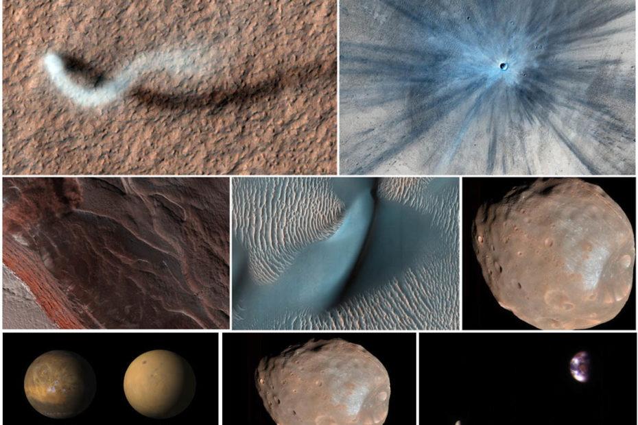 Потрясающие снимки Марса, снятые за 15 лет орбитальным аппаратом Mars Reconnaissance Orbiter Минутка науки