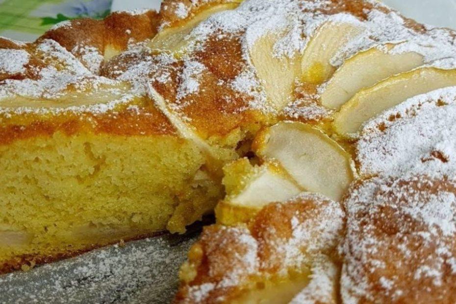 Нежная шарлотка на майонезе с яблоками - простой рецепт десерты выпечка вкусняшки
