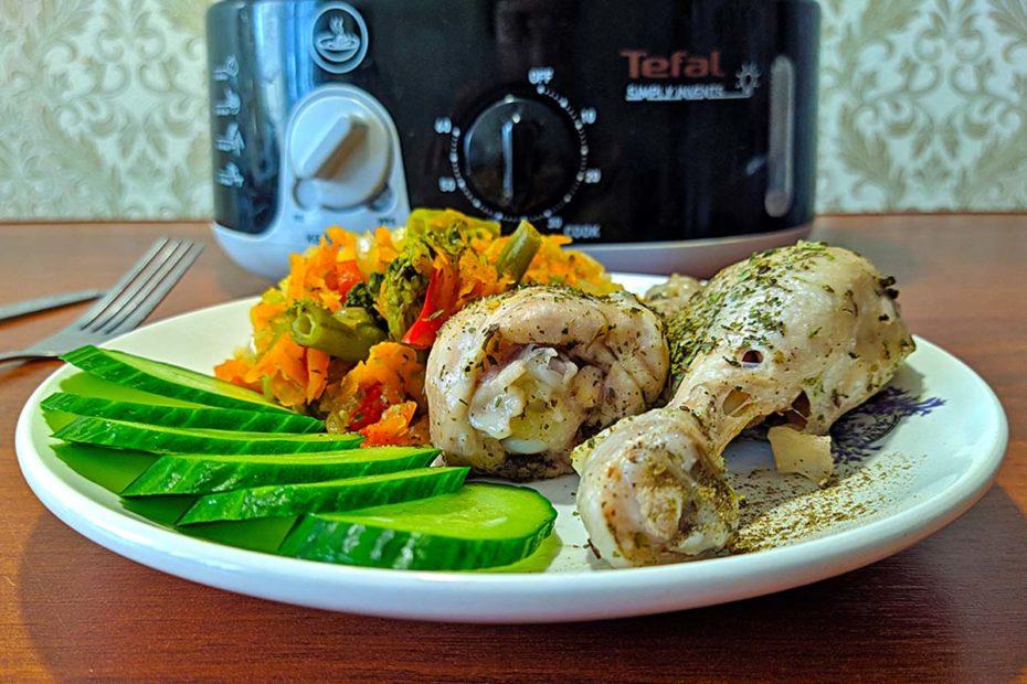 Вкусные куриные голени с овощами в пароварке – пп-рецепт правильное питание пп-пецепты пп полезные советы пароварка курица